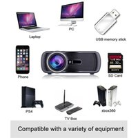 Wholesale Tv Av Controller - 2016 Best BL-80 Mini LED Projector 1000 Lumens 1080P Full HD Contrast Ratio 1000:1 with HDMI AV TV Port Remote Controller