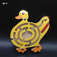 Wholesale Childhood Intellectual - Early Childhood Educational Toys Intellectual Wood Games Small Ball Magnetic Pen Labyrinth Duck