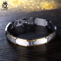 Wholesale Trendy Tops For Wholesale - 210mm Top Quality Stainless Steel Bracelet Trendy Men's Jewelry Silver & Gold Plated Bracelet for Men GTB04