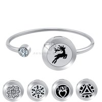 20mm Deer Magnetic Can Wiggle arriba y abajo Aroma Locket Brazalete de acero inoxidable Essential Loils Difusor Locket Pulsera (Dropship)