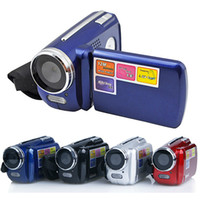 Wholesale Blue Flash Video - 4 Colors DV139 digital video camera 1.8 inch TFT LCD 4X Zoom 1.3MP with LED Flash Light Camcorder Mini DV Children's Chirstmas Gift Toys