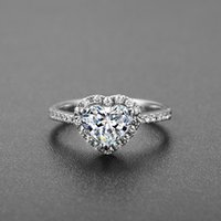 Wholesale Micro Trend Titanium - The new trend of Japan and South Korea exquisite fashion personality love heart-shaped diamond ring simulation hand Micro Pave Jewelry