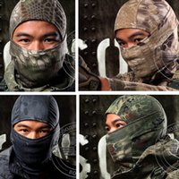 Wholesale Tactical Helmet Face Mask - Breathable Rattlesnake Cam Tactical Mask Full Face Mask Motorcycle Cycling Balaclava helmets