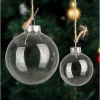 Wholesale Clear Ball Ornaments Wholesale - 80mm Christmas Balls Clear Glass Balls Transparent Glass Balls Christmas Ornaments Pendant Decor Christmas Ball CCA5056 100pcs