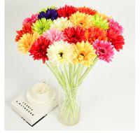 ingrosso decorazione gerbera-1 set = 10 bouquet Artificiale gerbera jamesonii bolo africano crisantemo fiore matrimonio fiore di seta fiore decorazione della casa aspetto naturale