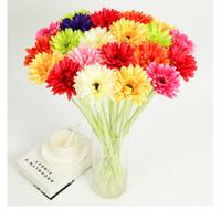 gerbera suni düğün çiçekleri toptan satış-1 takım = 10 buket Yapay gerbera jamesonii bolus afrika krizantem çiçek düğün çiçek ipek çiçek ev dekorasyon doğal bakmak
