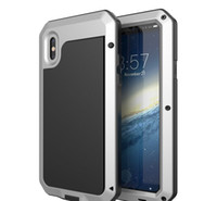 Hot Sell Waterproof Metal Case Hard Aluminium Dirt Shock Proof Phone Case Cover para iphonex 4s 5c 5s 6 6s 7 8 7plus