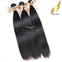"""Wholesale Bresilien Hair - Cheveux extensions 8""""-30"""" Bresilien Vierges Cheveux Tissage Double Perruque Couleur Naturelle 3Pcs Soyeux Tissages Bellahair 7A DHL Shi"""