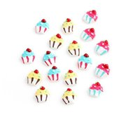 Wholesale Resin Cupcakes - 20pcs lot Free shipping Ice Cream Charms DIY Resin Cupcake Charms for Floating Locket