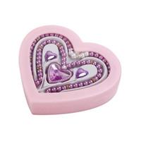 Wholesale Heart Shape Pearl Beads - Luxury Heart Shape Wireless Bluetooth Pearl Bead Necklace Earphone Handsfree Headphone with Mic for Christmas Girl Gift