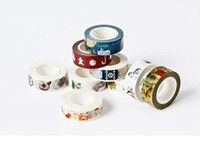 adhesivo floral de papel al por mayor-Nuevo llega el tamaño de 15mm * 10m DIY de la vendimia del gato de papel washi tapes floral decorativa / Cinta adhesiva / cinta adhesiva / Stickers / Suministros de la Escuela
