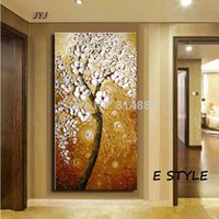 Wholesale Landscape Thick Paintings - Thick Textured Baroque Style Modern Hand painted Palette Knife Oil Painting Canvas Wall Art Gift ,Home Decoration KL01