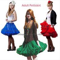Wholesale Tutu Pettiskirt Adults - Retail Adult Girls Teen Pettiskirt Womens Solid Color Chiffon Party TuTu Skirts Gray Sexier Short Skirt Free Shipping 1 PCS