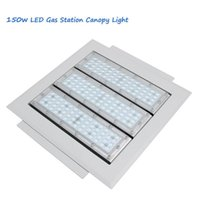 Wholesale Led Low Bay Lights - 90w 120w 150w Gas Station lighting Led Low Canopy light industrial factory high bay Meanwell driver Osram Chips 90-277V 120lm W