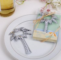 regalos de coco al por mayor-Fiesta de la playa Árbol de coco Abrebotellas Favor de la boda y regalo para invitados Recuerdos Bodas Evento Suministros para fiestas