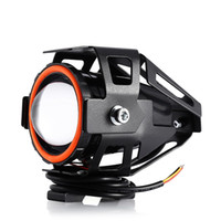 12v levou luzes de neblina motocicleta venda por atacado-Frete Grátis 125 W 12 V 3000LM U7 LEVOU Lâmpada de Nevoeiro Transformar Olho de Águia de Alta intensidade Grande Faixa de Iluminação Da Motocicleta Farol