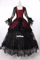 Wholesale New Century - 2016 Brand New 18th Century Victorian Lolita schwarz Marie Antoinette Gothic Dress