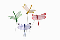 Wholesale Garden Stakes Decor Wholesalers - 50PCS-PACK Colorful Dragonfly Stakes for Garden Decoration & Party Supplies Outdoor Home Decor Fake Insects