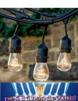 Wholesale E27 String - New 15pcs Bulb String Vintage Style Outdoor String Commercial Patio String Light Incandescent 11S14 Bulbs 48-Feet 15 Lights E27 Base Light