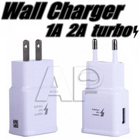 Wholesale 5V A USB Wall Fast Charger Turbo Adapter Charging A EU US Plug For Samsung Galaxy S9 S8 Plus Note8 Note Fast