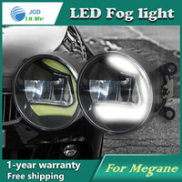 Wholesale Renault Megane Lights - Super White LED Daytime Running Lights case For Renault Megane 2004-2012 Drl Light Bar Parking Car Fog Lights 12V DC Head Lamp