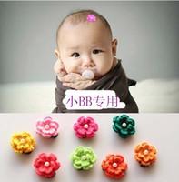 Wholesale Crochet Flower Clips Wholesale - Infant Hair Slides Kids Girl Hair Clips Childrens Accessories 2016 Crochet Flower Barrettes Baby Hair Accessories Baby Hairclips Ciao C27935