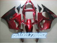 Wholesale Zx6r 636 Paint - Red black custom paint fairing Kit for 2000 2001 2002 Ninja ZX6R 636 00-02 ZX-6R 00 01 02 ZX 6R ZX636
