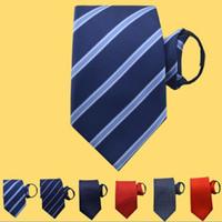Wholesale zipper tie for sale - Group buy zipper tie Lazy Stripe necktie cm colors for Men s Wedding Party Father s Day Christmas gift Free TNT Fedex