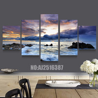 Wholesale Cheap Wall Pictures Paintings - 5 Panel Forest Painting Canvas Wall Art Picture Home Decoration Living Room Canvas Print Modern Painting--Large Canvas Art Cheap#004