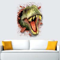ingrosso adesivo casa animale-New fashion 3D stampato Dinosaurs Animal adesivi murali arredamento camera da letto houseroom adesivi casa decorazione della casa Materiale sicuro PVC ecologico