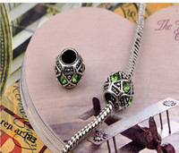 zweifarbiges material großhandel-NEUES freies Verschiffen-Schmucksache-Silber überzogene Korn-Charme-europäisches Legierungs-Korn-passendes Pandora-Armband