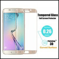 Wholesale 3D curved mm H tempered glass screen Protectors retail box for samsung S6 S6 edge S7 S7 edge iphone S plus note5