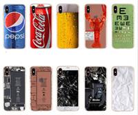 tarnung telefone großhandel-Für Apple iphone X iphone8 iphone 7 7 plus 6S SE TPU Kreative Tarnung Handyhüllen