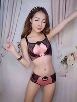 Wholesale Sexy Acme - Sunflower Style For Women Acme Sexy Temptation Bras SetsThe thickness of 5 cm Push Up Adjustment Underwear with High Quality