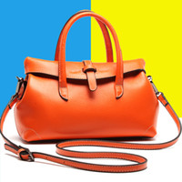 Wholesale Three Barrel - free shipping fashion genuine leather lady handbag new designer shoulder bag cowhide leather for women 4colours size of28x12x16cm