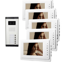 Wholesale video door entry intercoms for sale - Group buy Xinsilu inch Monitor Video Door Phone for Apartment Unit Wired Intercom Entry System Audio Visual V70F C