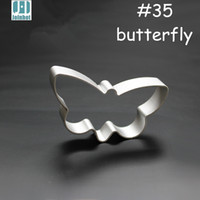 Wholesale Butterfly Biscuit Cutter - Wholesale- 2015 New DIY aluminium alloy cookie mold butterfly shape Cookies Fruit vegetable Cutter Biscuit Pastry mold