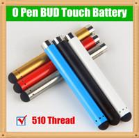 vape pen batterie automatisch großhandel-Großhandel 510 Bud Touch O Stift Vape Öl Batterie für Verdampfer Stift Patronen E Zigarette Vape 280mah Automatische Batterie BUD O Stift Vape Colorfu