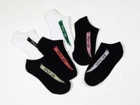 Wholesale Hosiery For Black Women - Kanye Women Men Socks Ankle Soft Cotton for Ladies Basketball Sport Black White Spring European Style Fashion Hosiery New Socks