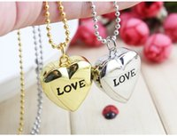 Wholesale Ladies Crystal Necklace Watches - Women Love Sweet Heart Vintage Retro Chain Pocket Watch Crystal Pendant Necklace Women Lady Girl Gift 08UK