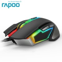 Wholesale Mouse Optical Gamer - New Rapoo V302 7000 DPI 7 Programmable Buttons Optical Sensor P3320 Backlight Optical Gaming Mouse for Professional Gamer