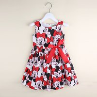 Wholesale Chinese Winter Vest - Minnie Mouse Bow Sleeveless Vest Dress Kid Clothes Summer Fall Hot Sale for Girls Cartoon Cute Skirt