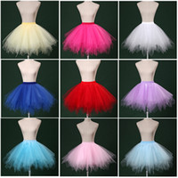 Wholesale Hot Pink Petticoat Skirts - In Stock Hot Sale Wholesale Mini Short Women Petticoat Underskirt crinoline Tutu Petticoat 2016 Skirt Colorful Petticoats