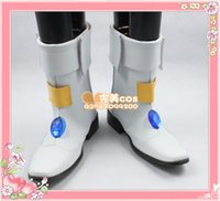 black lyrical costumes - Magical Girl Lyrical Nanoha Nanoha Takamachi cos Cosplay Shoes Boots shoe boot JZ514 anime Halloween Christmas