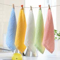 organische hand großhandel-2016 neue Handtücher Roben Weiche Bambus Bio Baby Flanell Gesicht Hand Bestickte Handtuch Waschlappen Tücher kostenloser versand