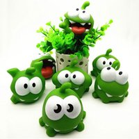 1Pcs Rope Frog Vinyl Rubber Игры для Android Кукла Cut The Rope OM NOM Candy Gulping Monster Toy Figure Рисунок со звуком