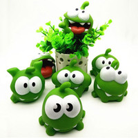 1Pcs Rope Frog Vinyl Rubber Jogos de Android Doll Cut The Rope OM NOM Candy Gulping Monster Toy Figure with Sound