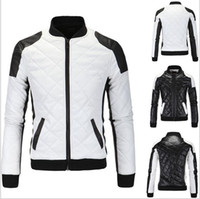 Wholesale Hot Mens Winter Leather Coats - hot sale Leather Jackets Slim Men Coats Winter Motorcycle Leather Jacket Men's Parka Mens Fur Coat Distressed PU Jacket Plus Size coat
