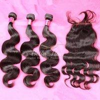 tam bakire malezya saç dökümü toptan satış-Bella Hair® 8A Malezya Virgin İnsan Saç Uzantıları Tam Kafa kapatma ile Doğal Renk Vücut Dalga Saç Örgüleri Ücretsiz Kargo