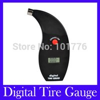 Wholesale Tire Gauge Free Shipping - Wholesale-Free Shipping Digital Tire Gauges Car Pressure Meter Test Tyre Testers Vehicle Motorcycle VT801 with retail packing,MOQ=1